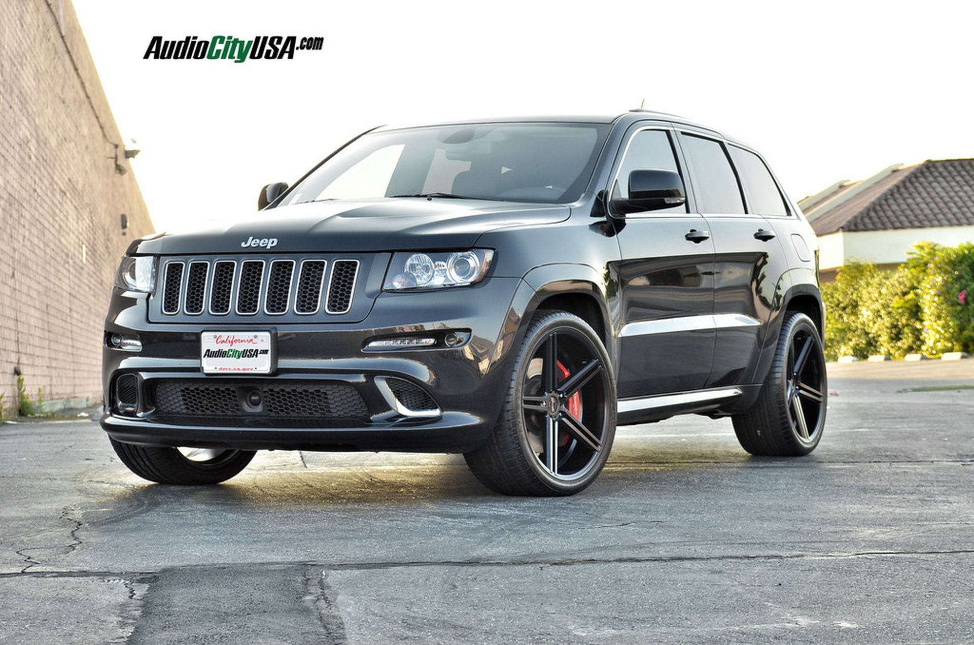 Gianelle Lucca Matte Black 22 On 2013 Jeep Grand Cherokee Srt 8