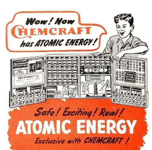 included radioactive chemicals for fun!