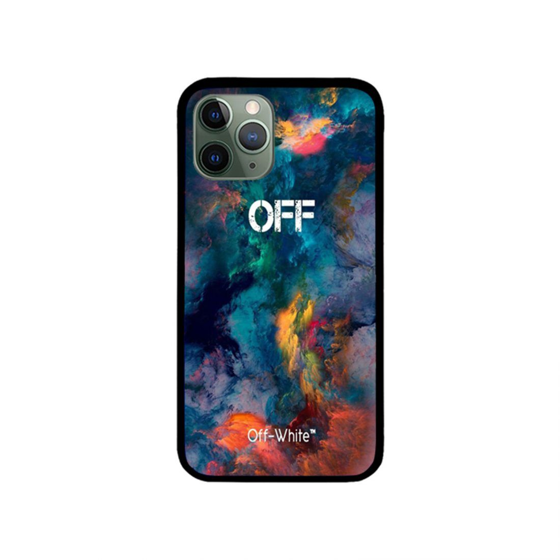Galaxy smoke color off white iphone case 11xxsxr876