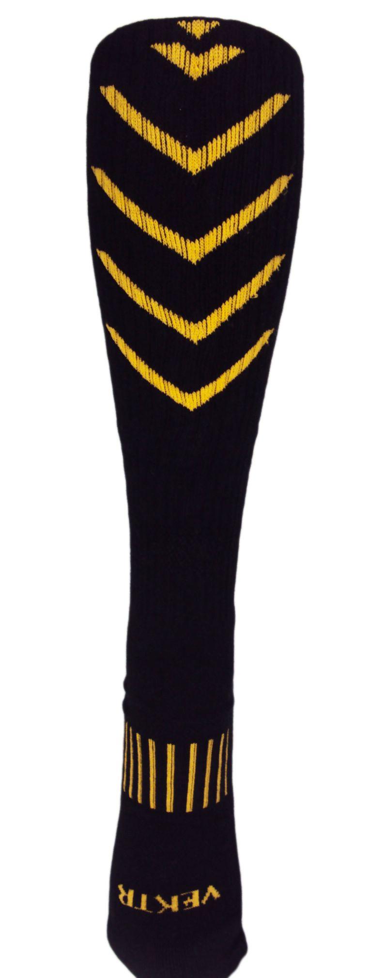 06c7136ced4  16 MOXY Socks Knee-High Black with Gold and Blood Red Ultimate VEKTR Premium  Deadlift Socks