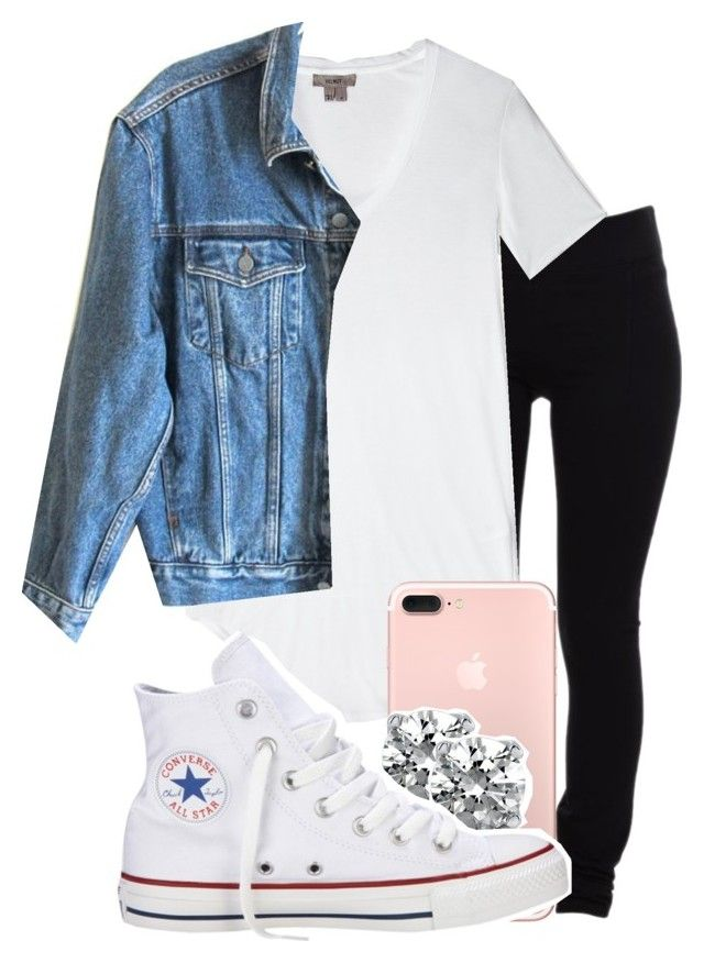 """Not much"" by ayepaigee on Polyvore featuring Helmut Lang, Helmut by Helmut Lang, Calvin Klein Jeans, BERRICLE and Converse"