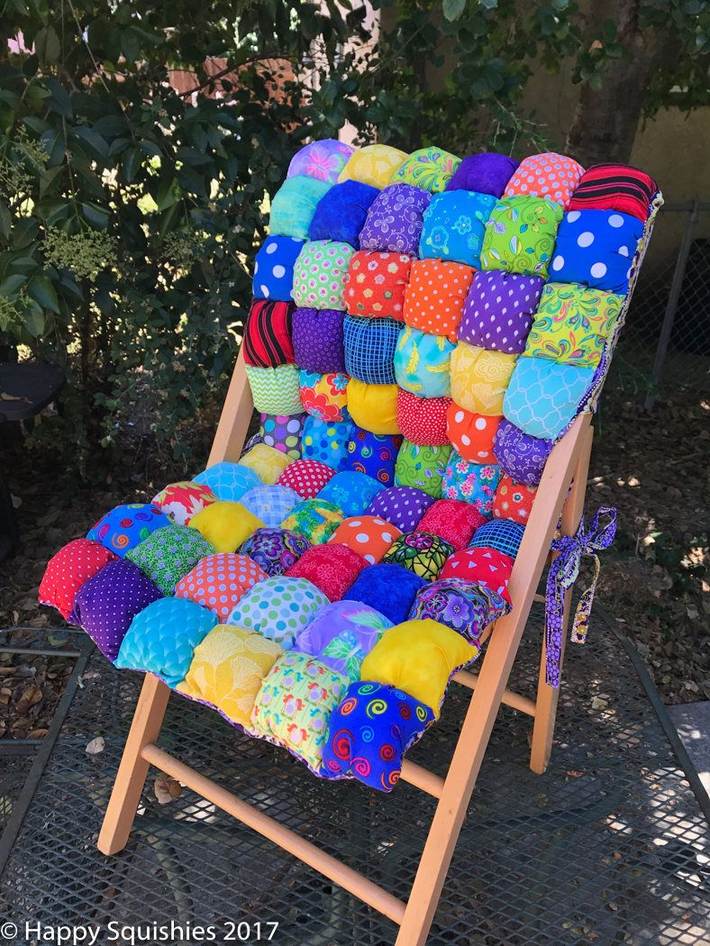 Full Chair Cushion with Seat Back Custom Made - Bubble ...