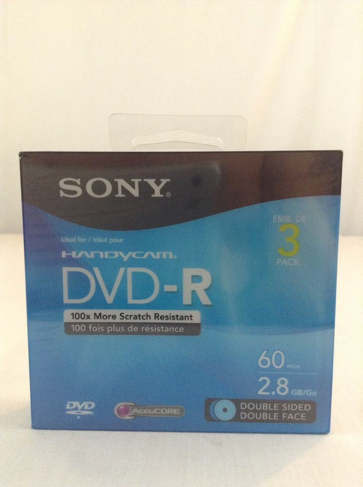 New Sony 3 Pack Handy Cam DVD-R 60 Min 2.8GB Double Sided Mini Discs  Sony fc9844b64ae2