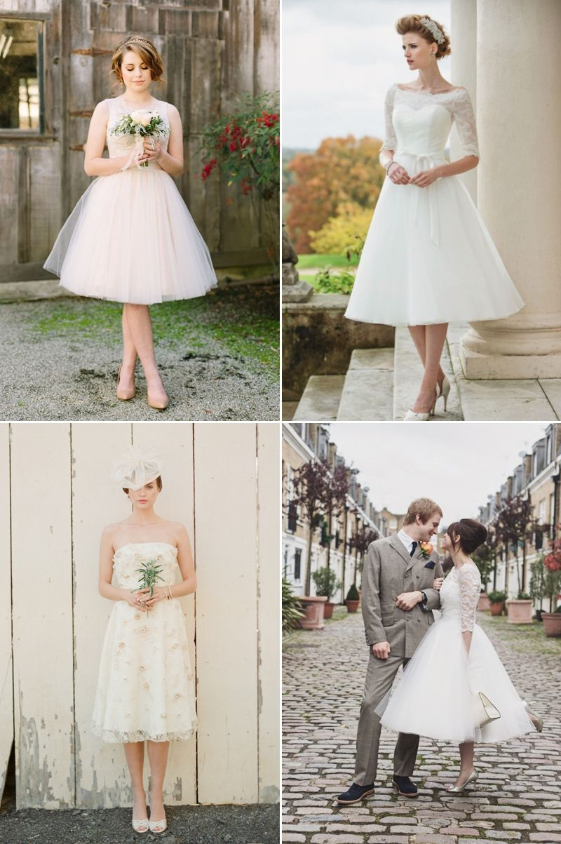 6 Beautiful Wedding Dress Styles For Brides With Short Hair Wedding Dress Styles Tea Length Wedding Dress Beautiful Wedding Dresses