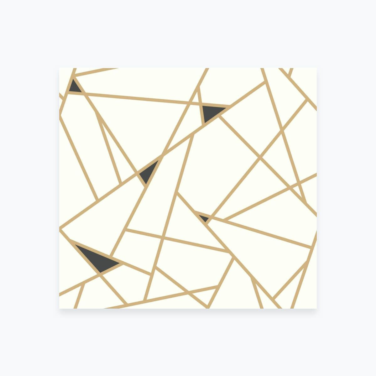 Gold and Black Geometric Wallpaper Modern geometric art