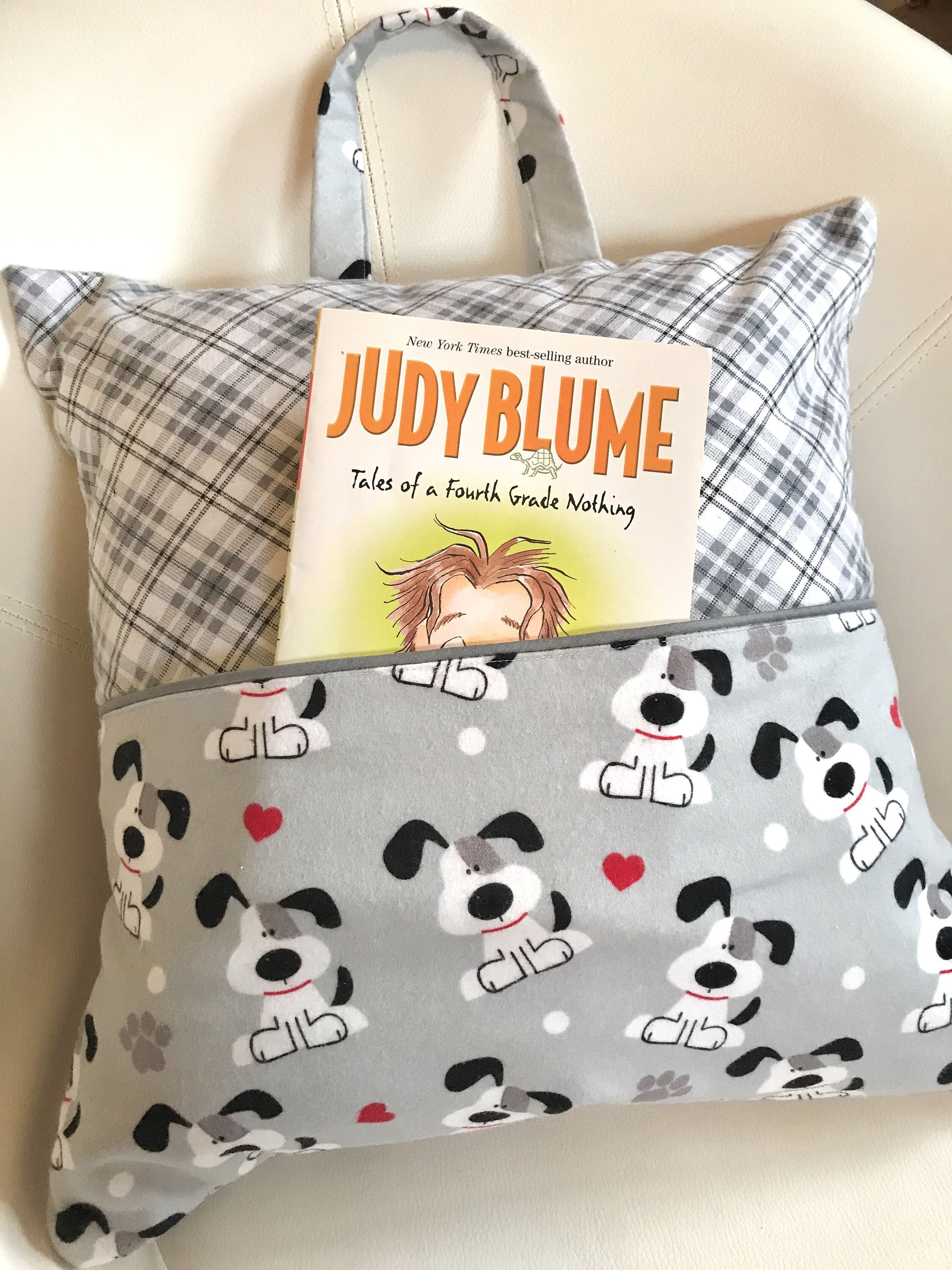 Childrens flannel pocket pillow cover childs book