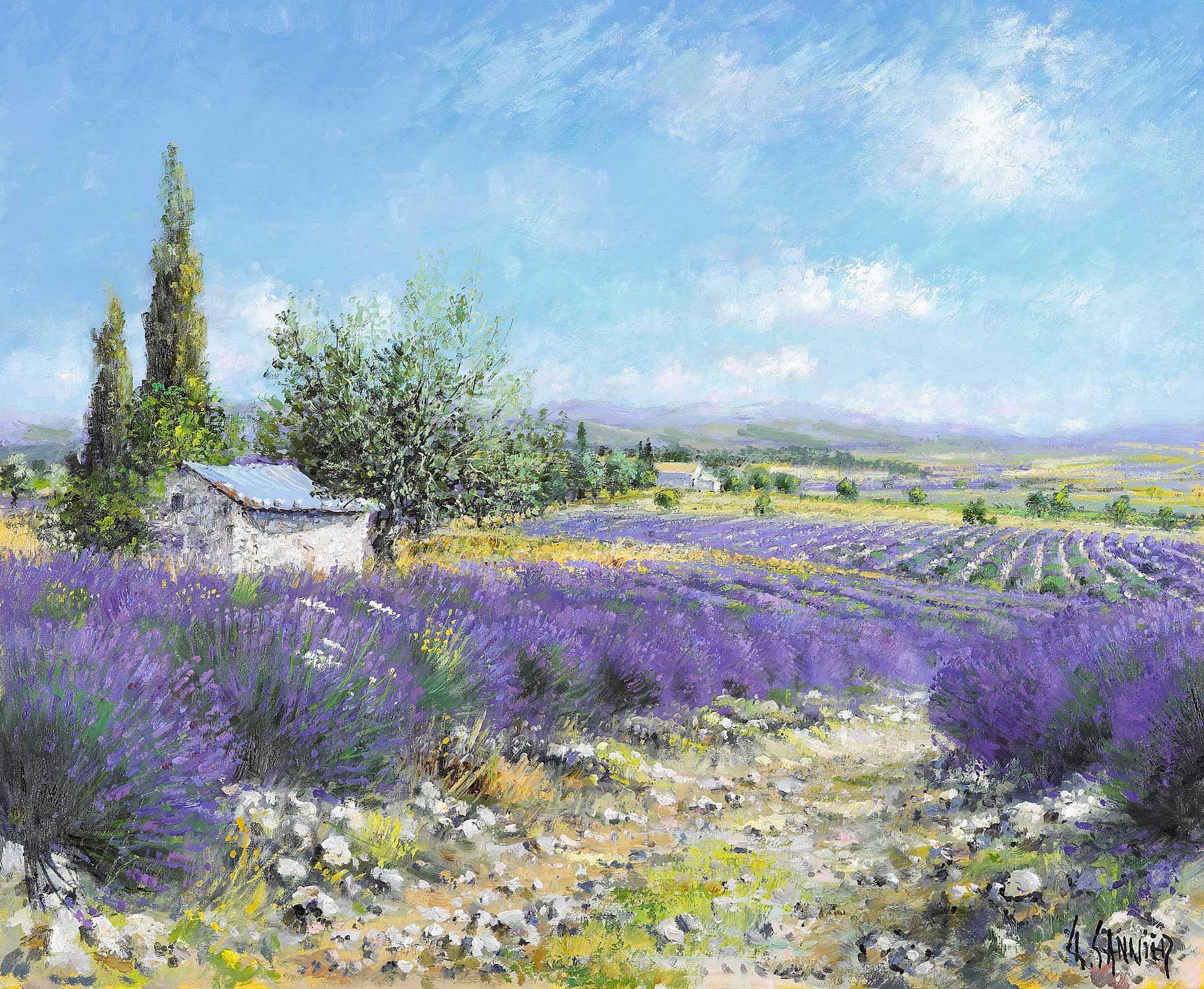 Provence paysage pinterest paysages aquarelles et for Pinterest peinture