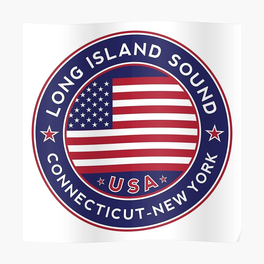 Long Island Sound Connecticut New York Poster By Alma Studio Square Business Card Bumper Stickers Metal Prints [ 1000 x 1000 Pixel ]