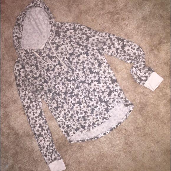 Sweatshirt Hoodie with flowers Tops Sweatshirts & Hoodies