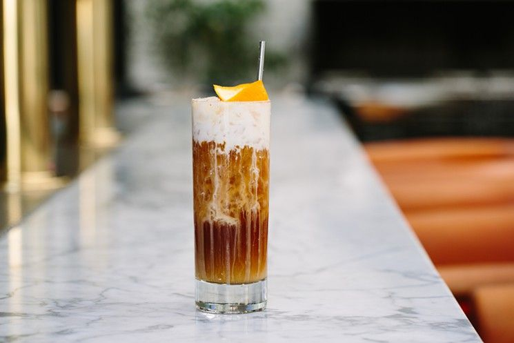 Good Morning Vietnam. Made with Trinidad rum, amaro, cold brew, coconut cream