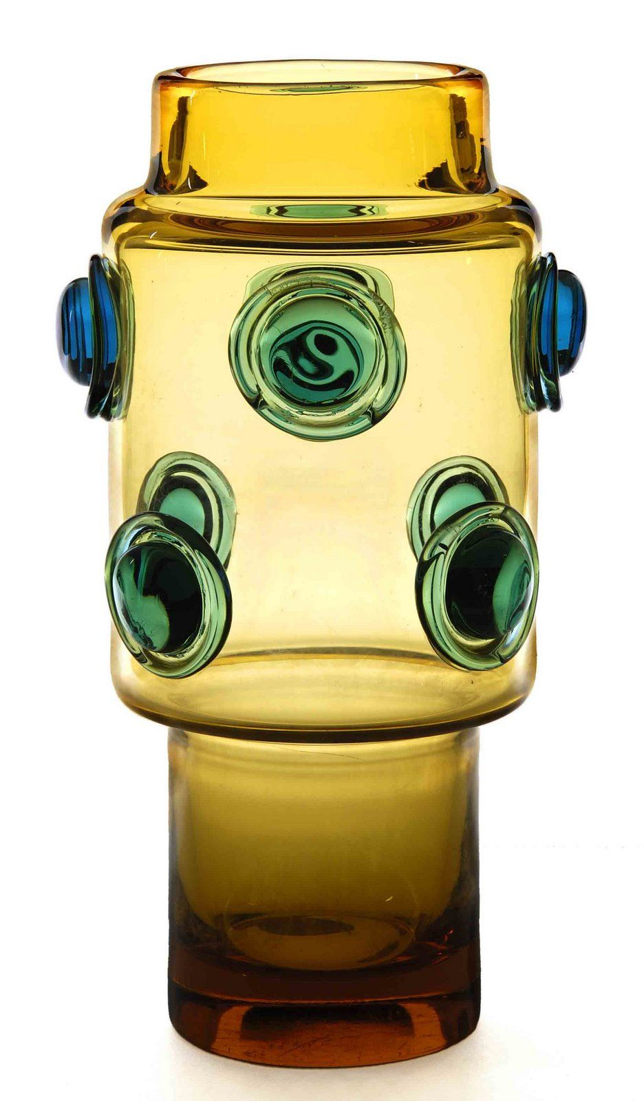 Vase 1969 Glassworks Prachen H 32 0 Cm Glass Art Glassware