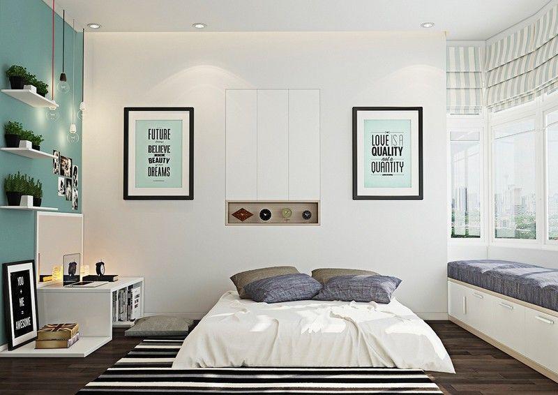 Schlafzimmer Ideen in Weiß und Grün - moderne Gestaltung - schlafzimmer ideen wei