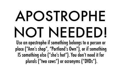 A guide to using apostrophe...unfortunately necessary for