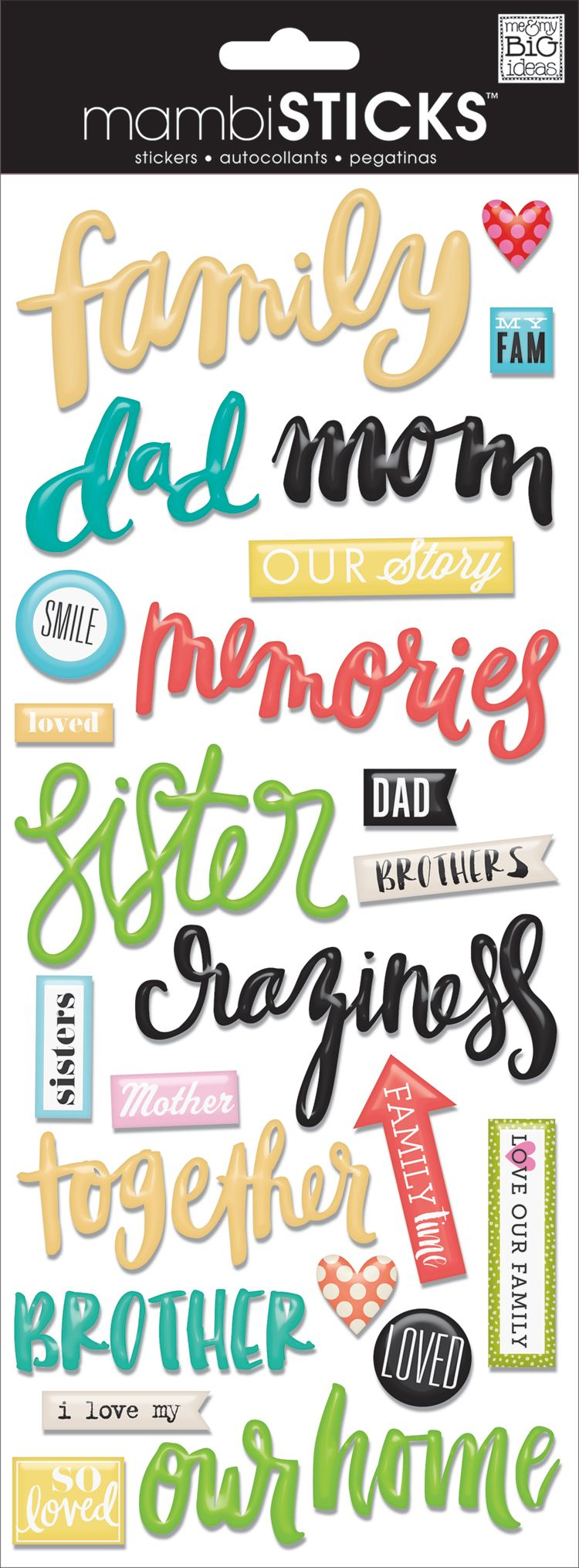 RECOLLECTIONS OUR FAMILY WORD SCRAP BOOK STICKERS