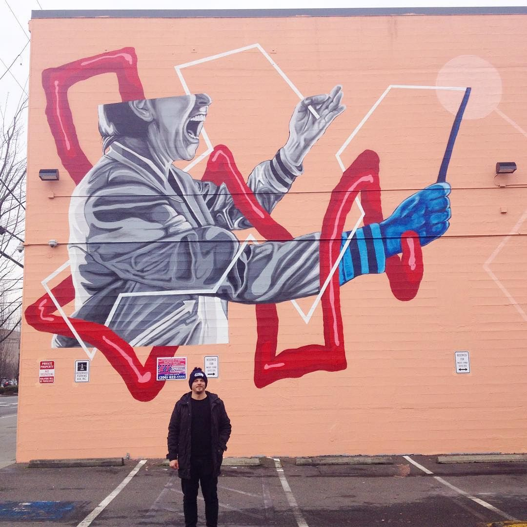Devin liston mural for urban artworks in seattle wa artist