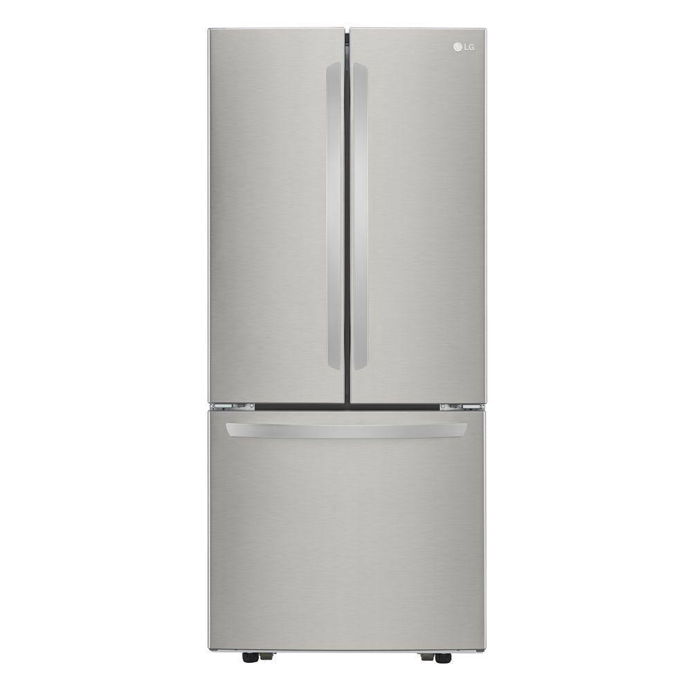 Lg Electronics 21 8 Cu Ft French Door Refrigerator In Stainless French Door Refrigerator Stainless Steel French Door Refrigerator Lg French Door Refrigerator