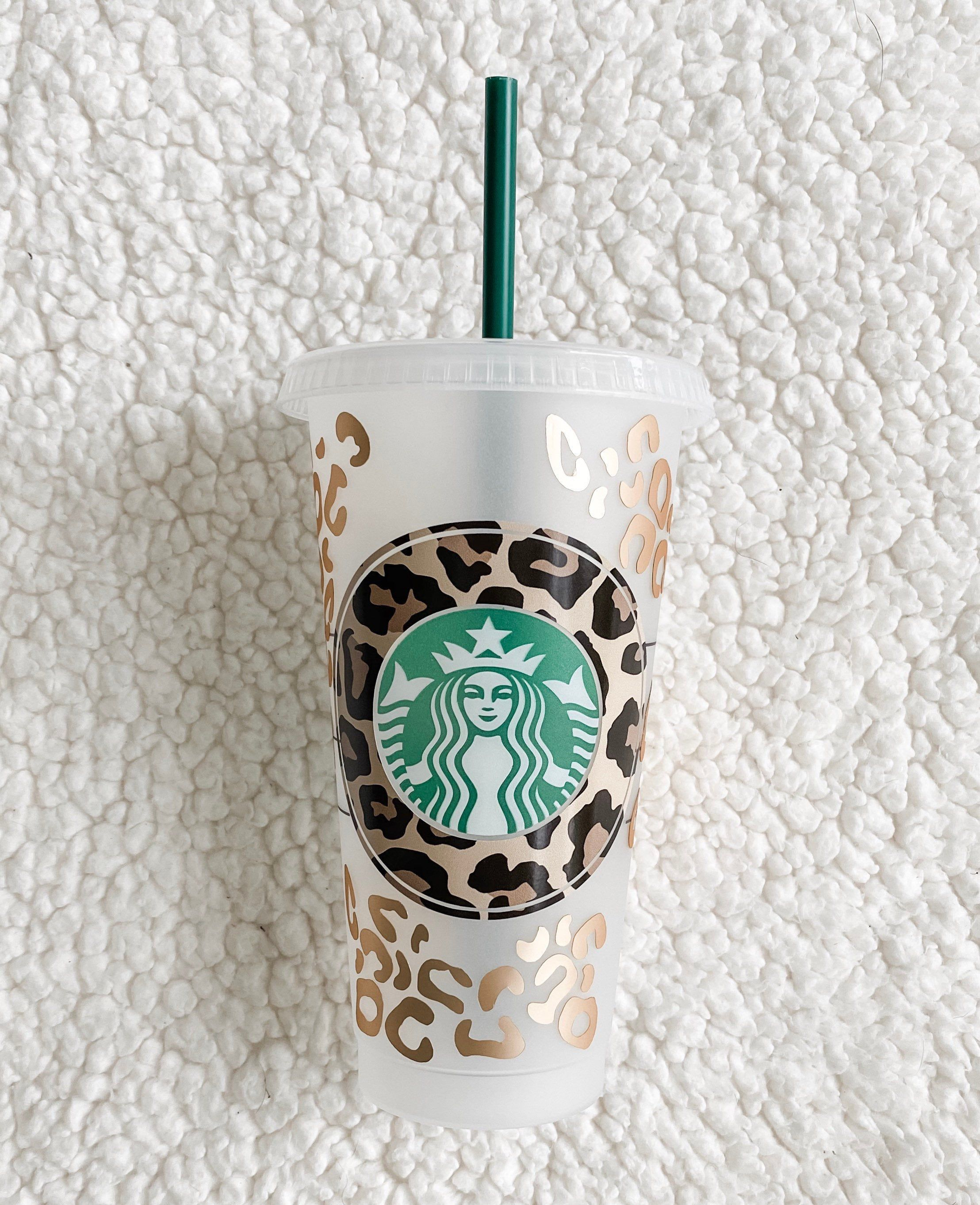 Custom cheetah print Starbucks cup / leopard print drinks