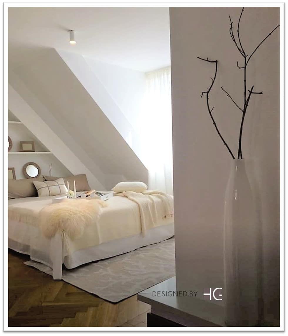 Loft – schlafzimmer in naturtönen minimalistische schlafzimmer von