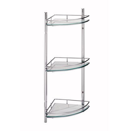Wall Mounted Bathroom Corner Shelf Unit at Homebase -- Be inspired ...