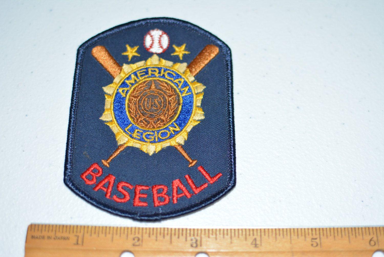 American Legion Baseball Iron On Vintage Embroidered Patch Etsy Vintage Patches Embroidered Patches Fabric Sewing Patterns