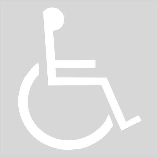 Plantilla discapacitados | Plantillas Señalización Horizontal ...
