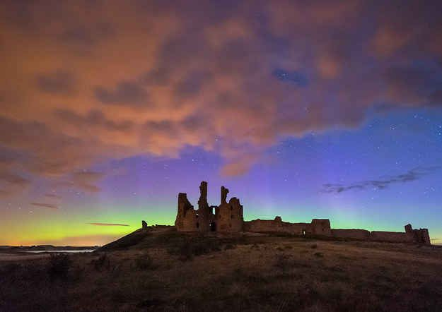 This ancient ruin, beautifully backdropped by the northern lights – this couldn't possibly be in England, right?