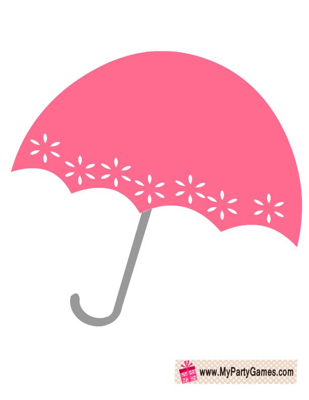 Free Printable Umbrella Prop For Bridal Shower