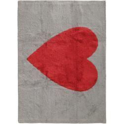 Photo of benuta Kids Waschbarer Kinderteppich Bambini Heart Grau 120×160 cm – Waschbarer Teppich für Kinderzi