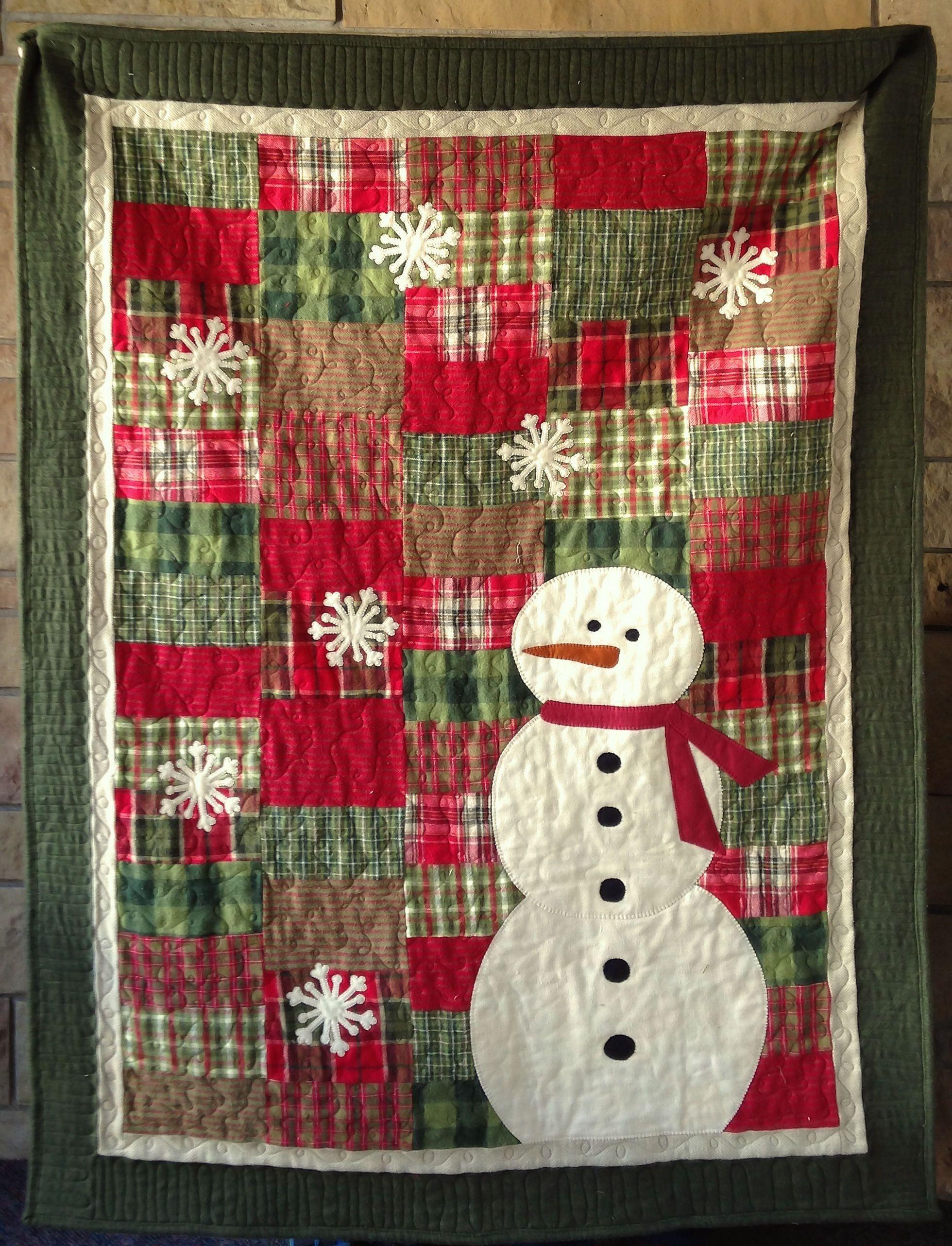 Primoplaidsnowmanpasthym Christmas Quilts Pinterest