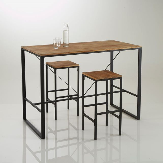 table bar haute hiba table de bar haute tables de bar et table haute. Black Bedroom Furniture Sets. Home Design Ideas