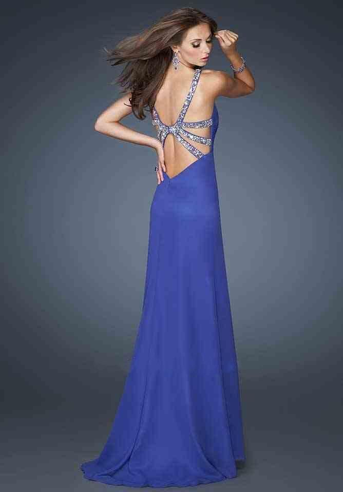 Long V-neck Dress By La Femme Gigi 18956 Hot Dresses Cheap Sale ...