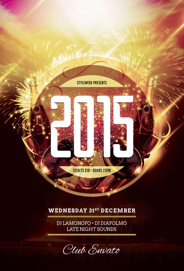 New Year Bash Flyer - new year brochure template