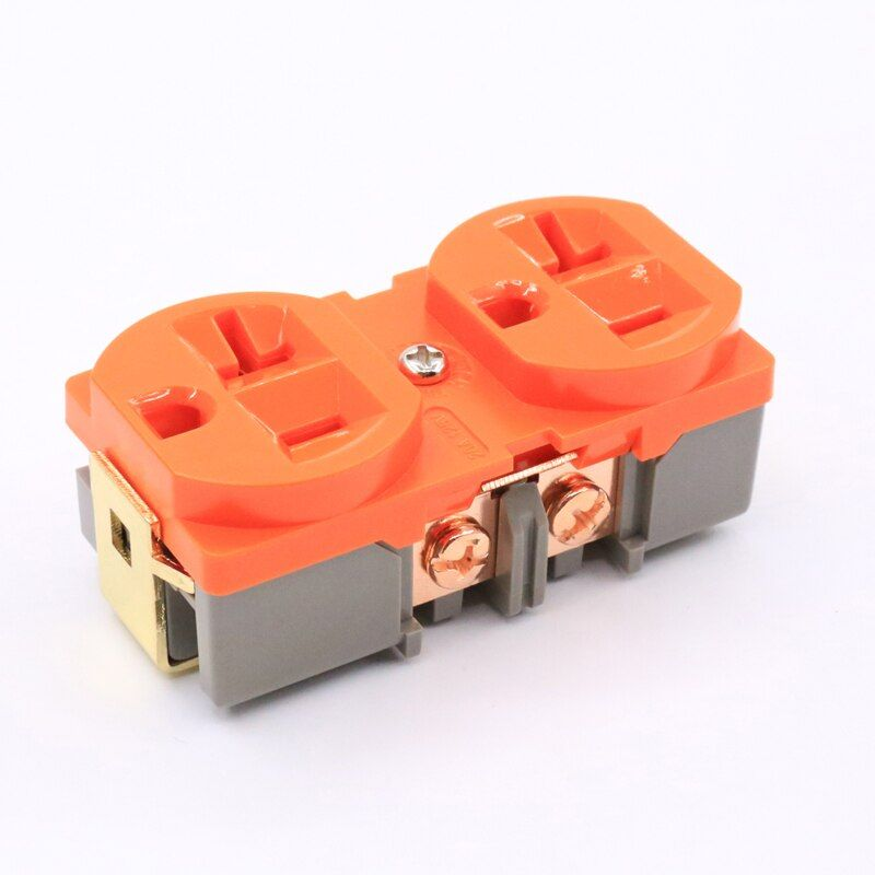 free shipping 5pieces x hifi us ac power receptacle wall on wall outlet id=70094
