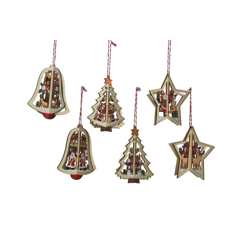 Zawieszka Drewniana 10 Cm Mix Bombki I Ozdoby Choinkowe W Atrakcyjnej Cenie W Sklepach Leroy Merlin Christmas Ornaments Decorative Bells Novelty Christmas
