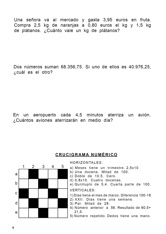 Problemas Problemas De Multiplicaciones Multiplicación De Decimales Fracciones Decimales