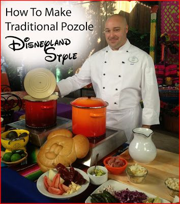 Babes in Disneyland: Disney At Home: Making Pozole with Disneyland Chef Toby #disneyside