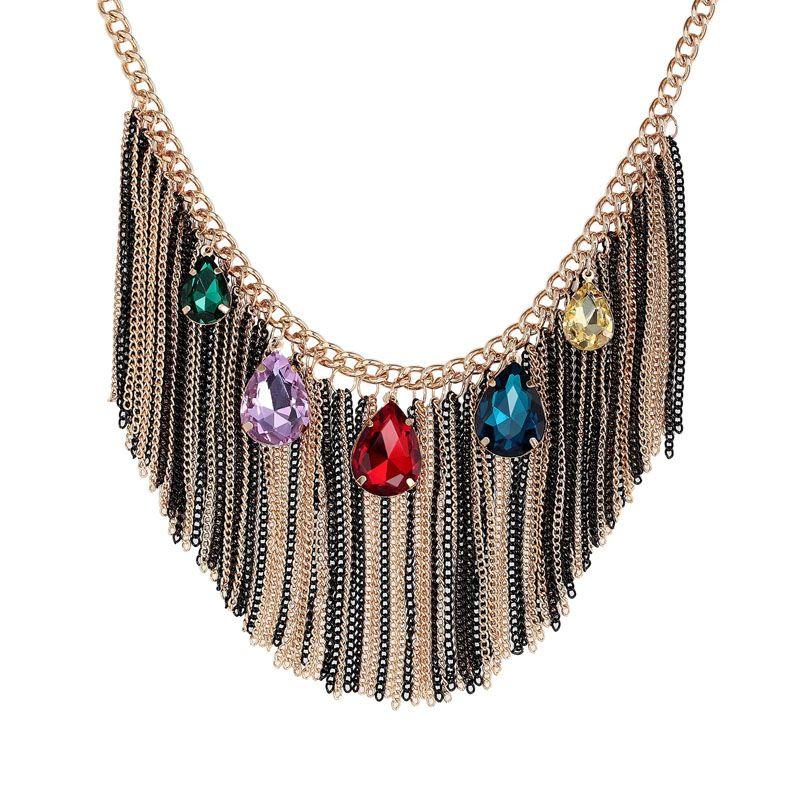 Bib Statement Necklaces Crystal