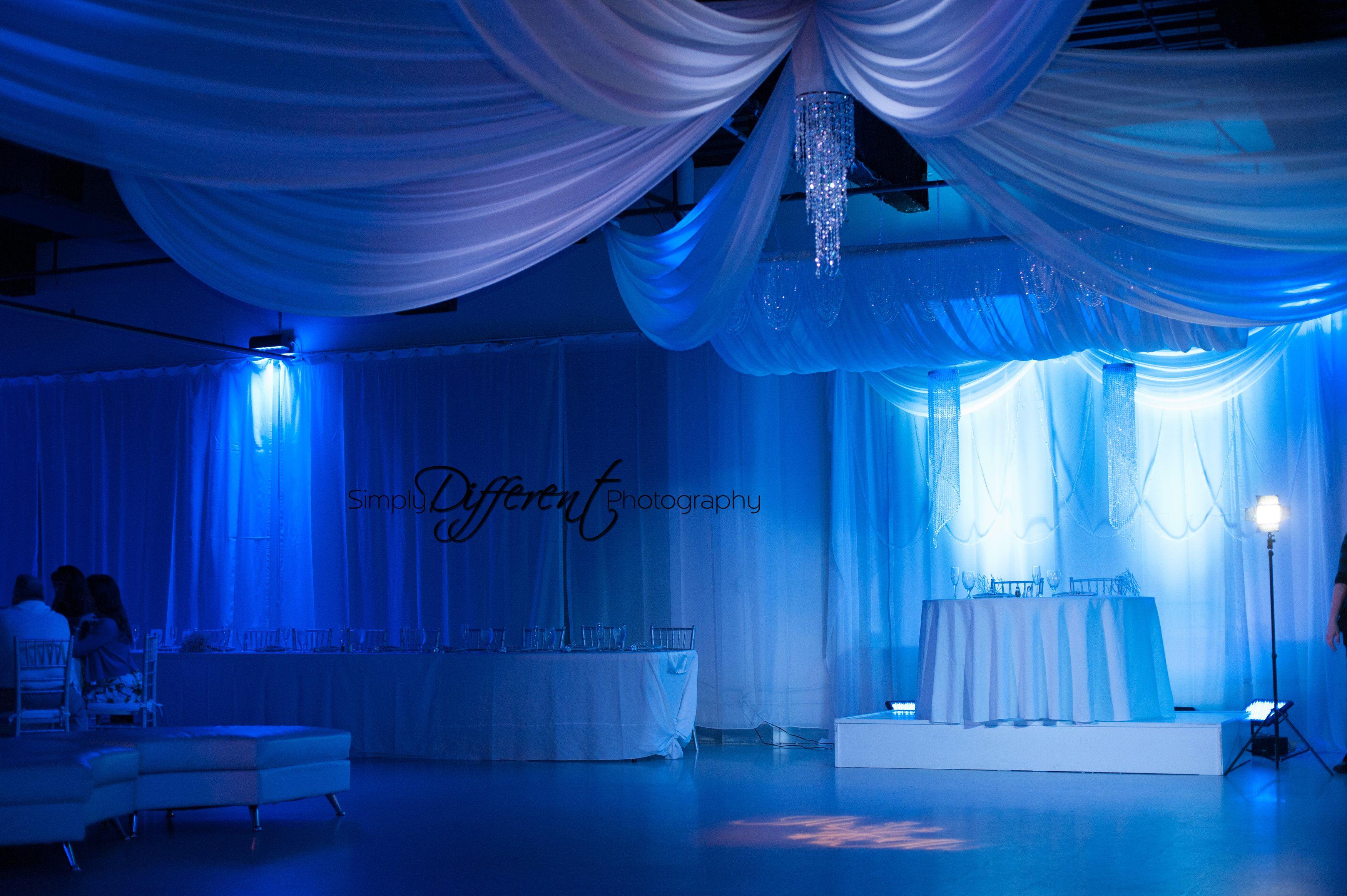 Good Reception Hall Base With Drapery And Lighting