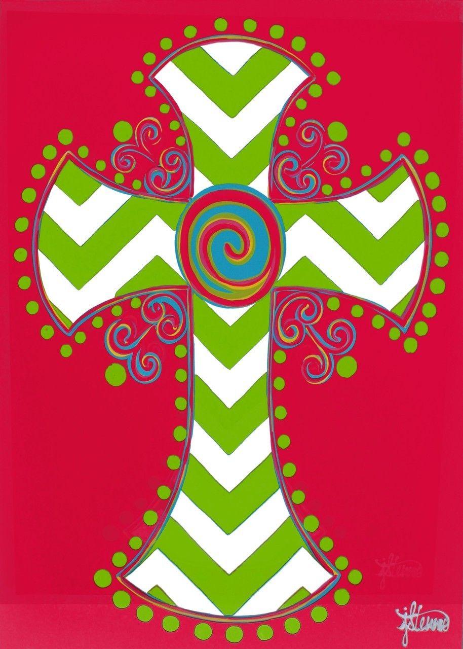 IAmEricas Flags - Chevron Cross Garden Flag, $14.00 (http://www ...