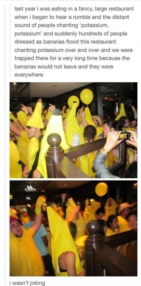 This Reminds Me Of That Time You Were In A Banana Costume In History