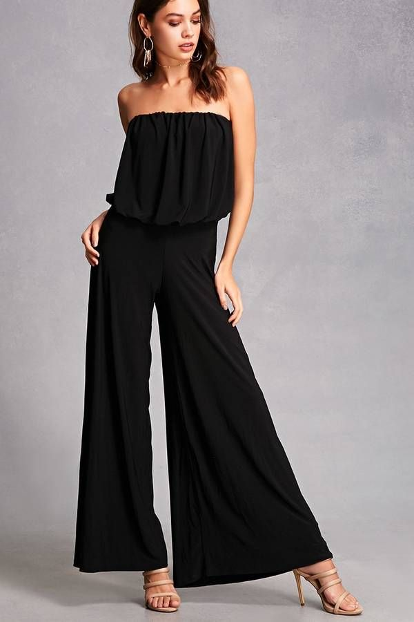 11000d594d88 FOREVER 21+ Strapless Palazzo Jumpsuit