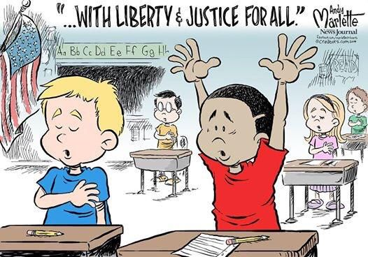 Image result for cartoon with liberty and justice for all