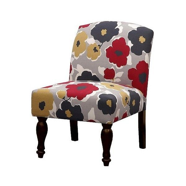 Skyline Armless: Upholstered Chair: Foster Armless Slipper Chair   Bold  Floral ($85)