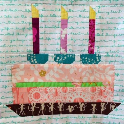 Free Birthday Cake Quilt Block Pattern The Homemade Heart Let Them Eat