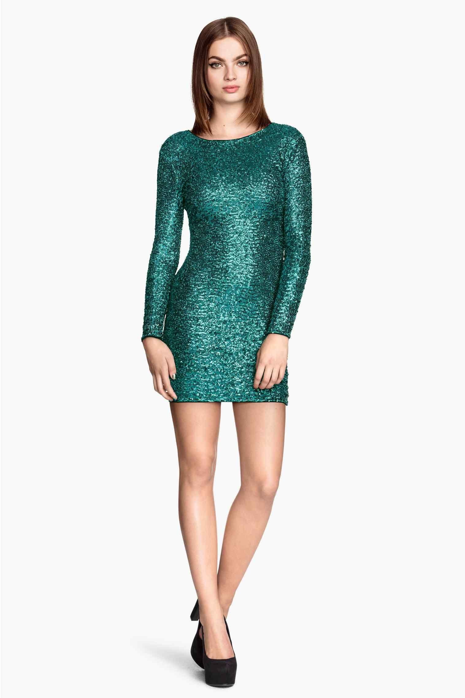 Vestido de lentejuelas   H&M   To wear   Pinterest   Vestido de ...