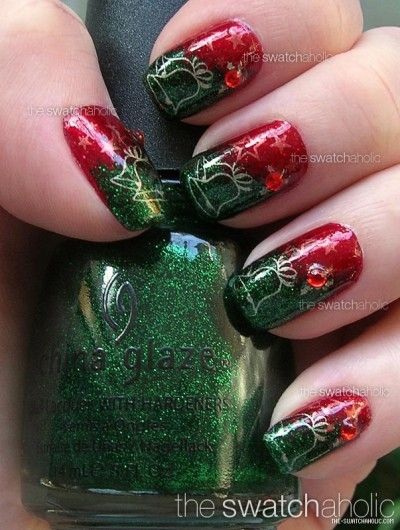 Awesome #Christmas nails!