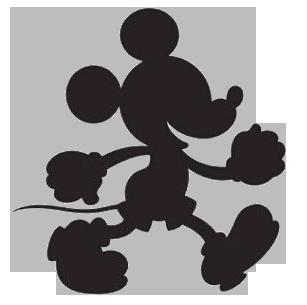 Black White Mickey Clipart Mickey Silhouette Mickey Mouse Silhouette Disney Silhouette
