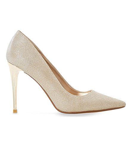DUNE Betsee Metallic-Lurex Court Shoes. #dune #shoes #heels