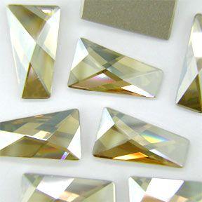 Swarovski 2770 6x3.5mm (Foiled) Crystal Golden Shadow Wing Flat Back 6 Pack $1.94