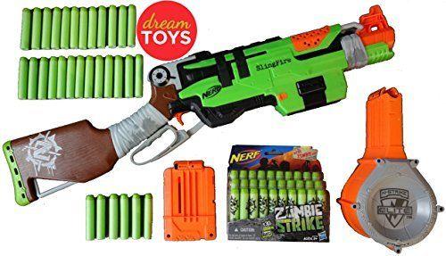 Nerf Gun Rifle - Nerf Zombie Strike SlingFire Blaster Rifle Gun with